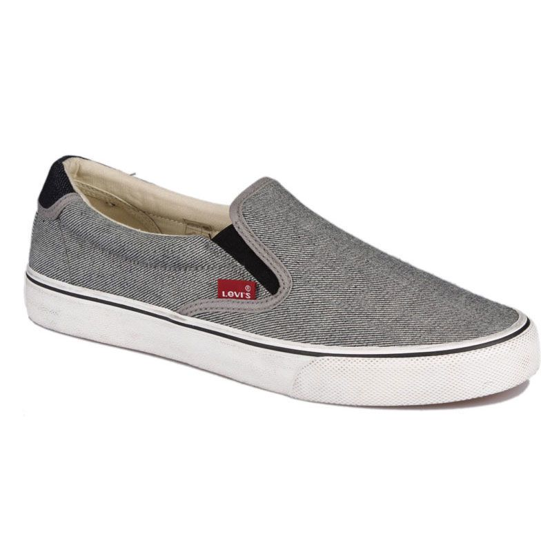 8c28f0f76731 Мужские кеды Levis ORIGINAL RED TAB SLIP ON 223280/730-1 серые ...
